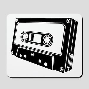 Black & White Cassette Tape Mousepad