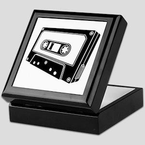 Black & White Cassette Tape Keepsake Box