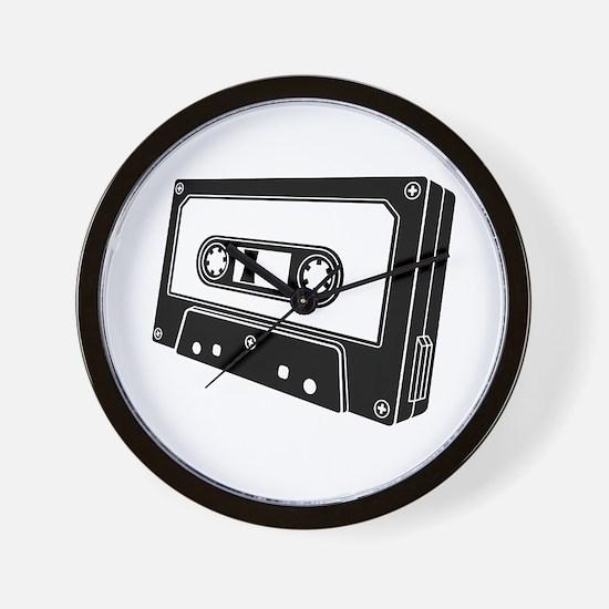 Black & White Cassette Tape Wall Clock