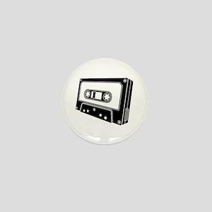 Black & White Cassette Tape Mini Button