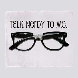 Talk Nerdy To Me<br> Throw Blanket