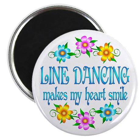 "Line Dancing Smiles 2.25"" Magnet (10 pack)"