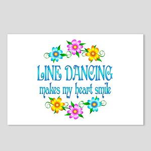 Line Dancing Smiles Postcards (Package of 8)