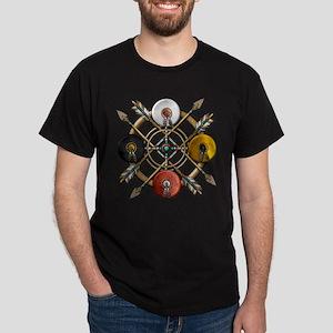 Native Medicine Wheel Mandala Dark T-Shirt
