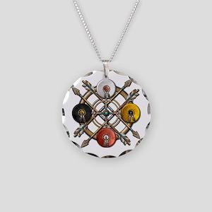Native Medicine Wheel Mandala Necklace Circle Char