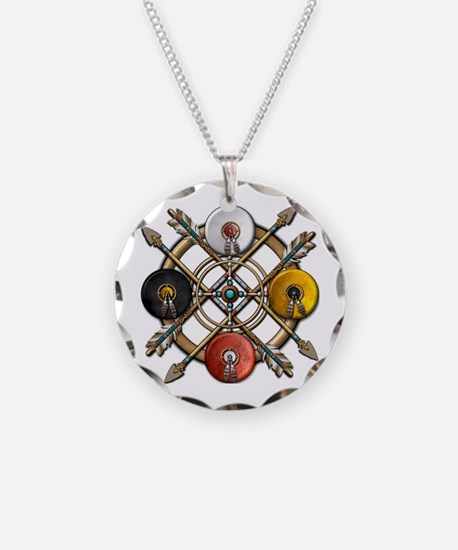 Native Medicine Wheel Mandala Necklace Circle Char