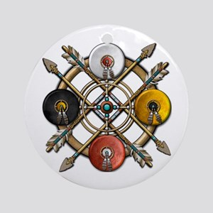 Native Medicine Wheel Mandala Ornament (Round)