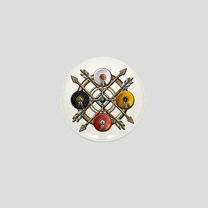 Native Medicine Wheel Mandala Mini Button