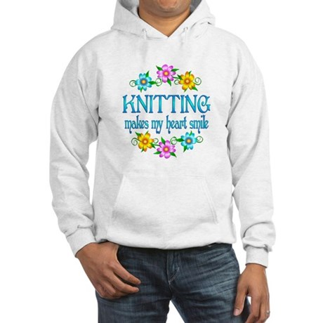Knitting Smiles Hooded Sweatshirt
