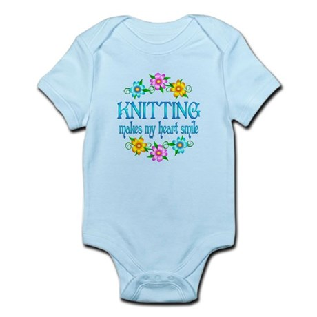 Knitting Smiles Infant Bodysuit