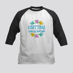 Knitting Smiles Kids Baseball Jersey