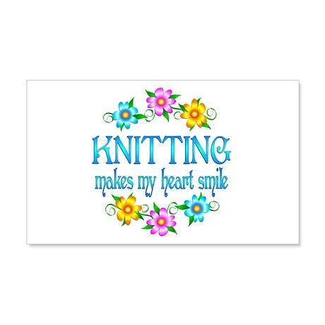 Knitting Smiles 22x14 Wall Peel