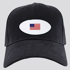 American Flag Black Cap