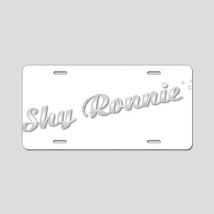 Shy Ronnie Aluminum License Plate