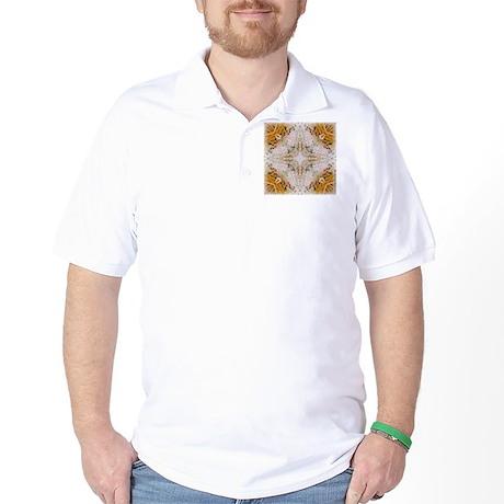 Kaleidoscope Pattern Yarn Golf Shirt
