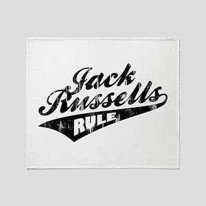 Jack Russells Rule Throw Blanket