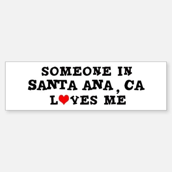 Someone in Santa Ana Bumper Car Car Sticker