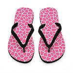 Pink Giraffe Flip Flops