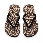 Giraffe Pattern Flip Flops