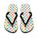 Colorful Polka Dot Flip Flops