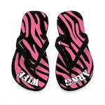 Pink Zebra ARNG Wife Flip Flops