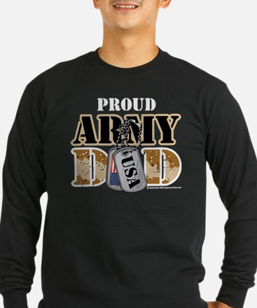Proud Army Dad Dog Tag T