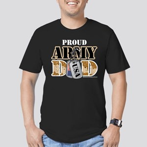 Proud Army Dad Dog Tag Men's Fitted T-Shirt (dark)