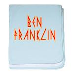 Electric Ben Franklin baby blanket