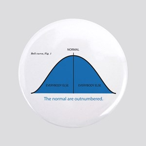 """Normal bell curve 3.5"""" Button"""