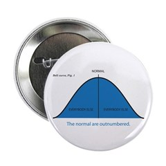 """Normal bell curve 2.25"""" Button"""