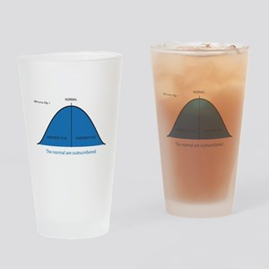 Normal bell curve Drinking Glass