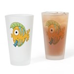 Funny Yellow Tropical Fish Drinking Glass
