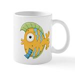 Funny Yellow Tropical Fish Mug