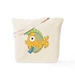 Funny Yellow Tropical Fish Tote Bag