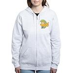 Funny Yellow Tropical Fish Women's Zip Hoodie