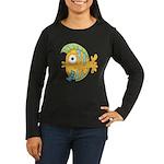 Funny Yellow Tropical Fish Women's Long Sleeve Dar