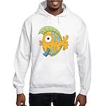 Funny Yellow Tropical Fish Hooded Sweatshirt