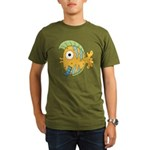 Funny Yellow Tropical Fish Organic Men's T-Shirt (