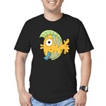 Funny Yellow Tropical Fish Men's Fitted T-Shirt (d