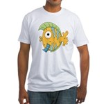 Funny Yellow Tropical Fish Fitted T-Shirt