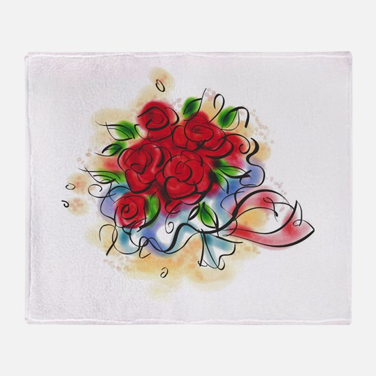 Bright Florals Throw Blanket