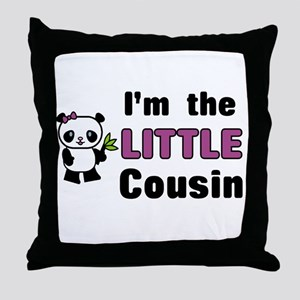 I'm the Little Cousin Throw Pillow