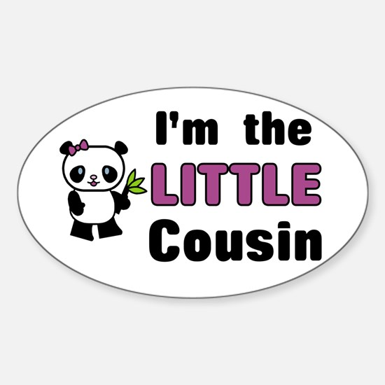 I'm the Little Cousin Sticker (Oval)