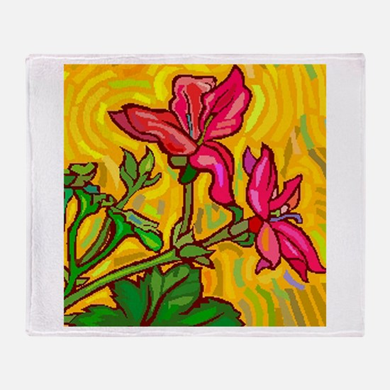 Floral Brights Throw Blanket
