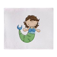 Pretty Little Mermaid Throw Blanket