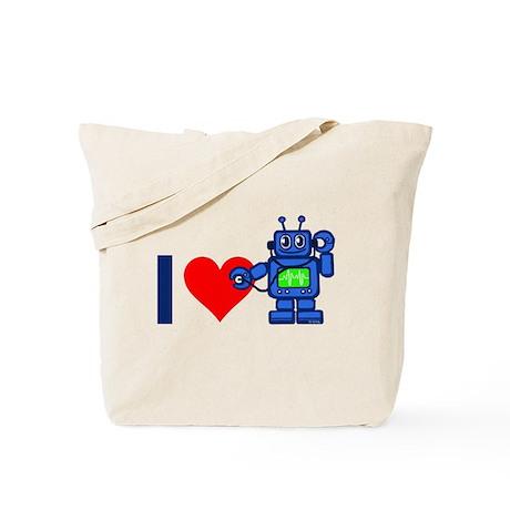 I heart robot Tote Bag
