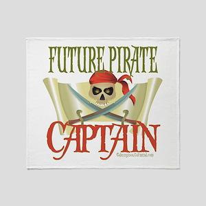 Future Pirate Captain Throw Blanket