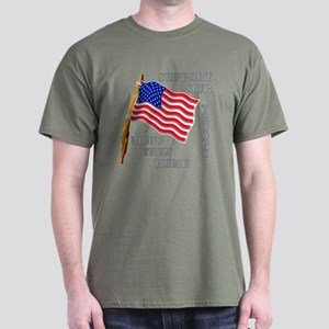 Support Our Troops Bring Them Home Dark T-Shirt