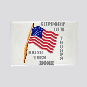 Support Our Troops Bring Them Home Rectangle Magne
