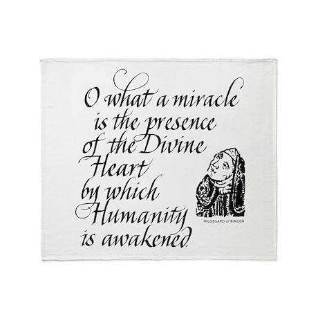 Hildegard Divine Heart Throw Blanket